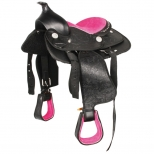 Synthetic Western Saddle Think Pink for Pony