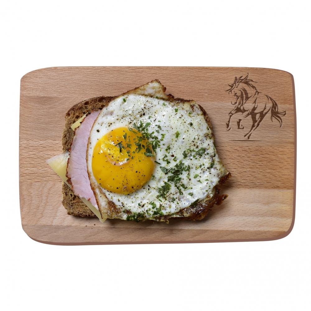 Small breakfast board - galloping horse