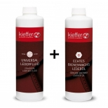 Universal Leather Fluid, 500 ml and Leather oil Kieffer Beeswax