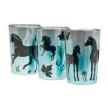"Metallic Tealight Candle Holders ""Horses"""