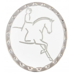 "RUBIN ROSS Brooch ""Dressage Rider"", matt silver"