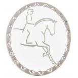 """RUBIN ROSS Brooch """"Dressage Rider"""", matt silver"""