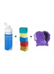 Set Shampoo for Horse, 500ml, All Purpose Sponge and Grooming and Washing Glove