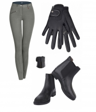 Set Breeches + Jodhpur boots + Riding gloves, teens