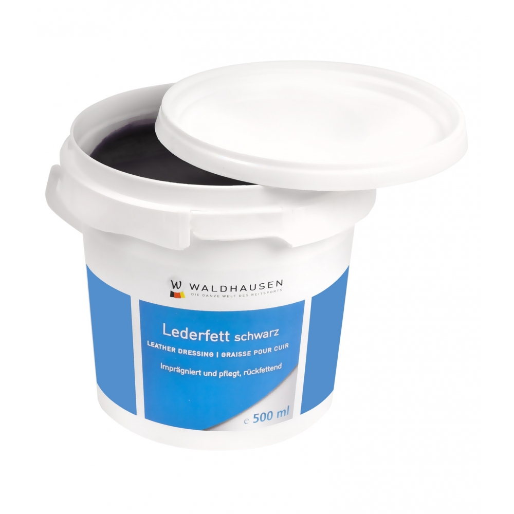 Leather Grease black, 500 ml