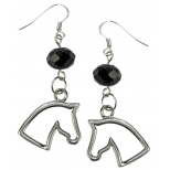 "Glass Bead Earrings ""Horse Head"""