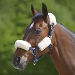 Lambskin noseband and pollstrap sleeve