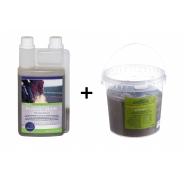 Set Respiratory: Chevaline Respiration Elixir, 1l + Eucalyptus block, 1.5 kg