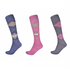 Riding socks CHECKERED, 3 pcs.