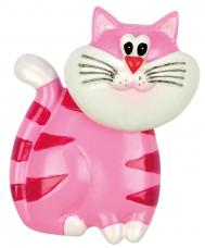 "Bobblehead Magnet ""Cat"", pink"