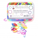 Plaiting bands in dispensing box, extra wide, multicolour