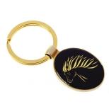 """Designer Keyring """"Islander"""", black gold"""