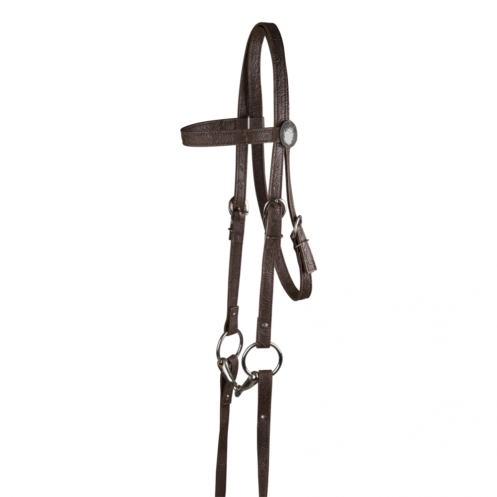 Synthetic Western bridle, pony