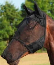 Fly Mask with Ear and Nose Protector, pony