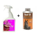 NAF Hoof Oil, 500 ml and NAF Silky Mane & Tail D-Tangler, 750 ml