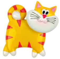 "Bobblehead Magnet ""Cat"", yellow"