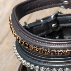 Dog Collar Kieffer Ultrasoft® Fashion with crystals