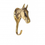 Brass bridle hook Horse Head