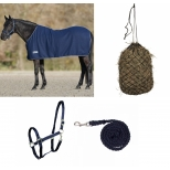 Set Fleece Rug Economic, Halter Perlon, Tie rope Cotton and Hey net, small