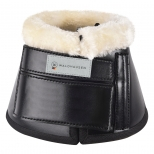 Synthetic lambskin bell boots, pair