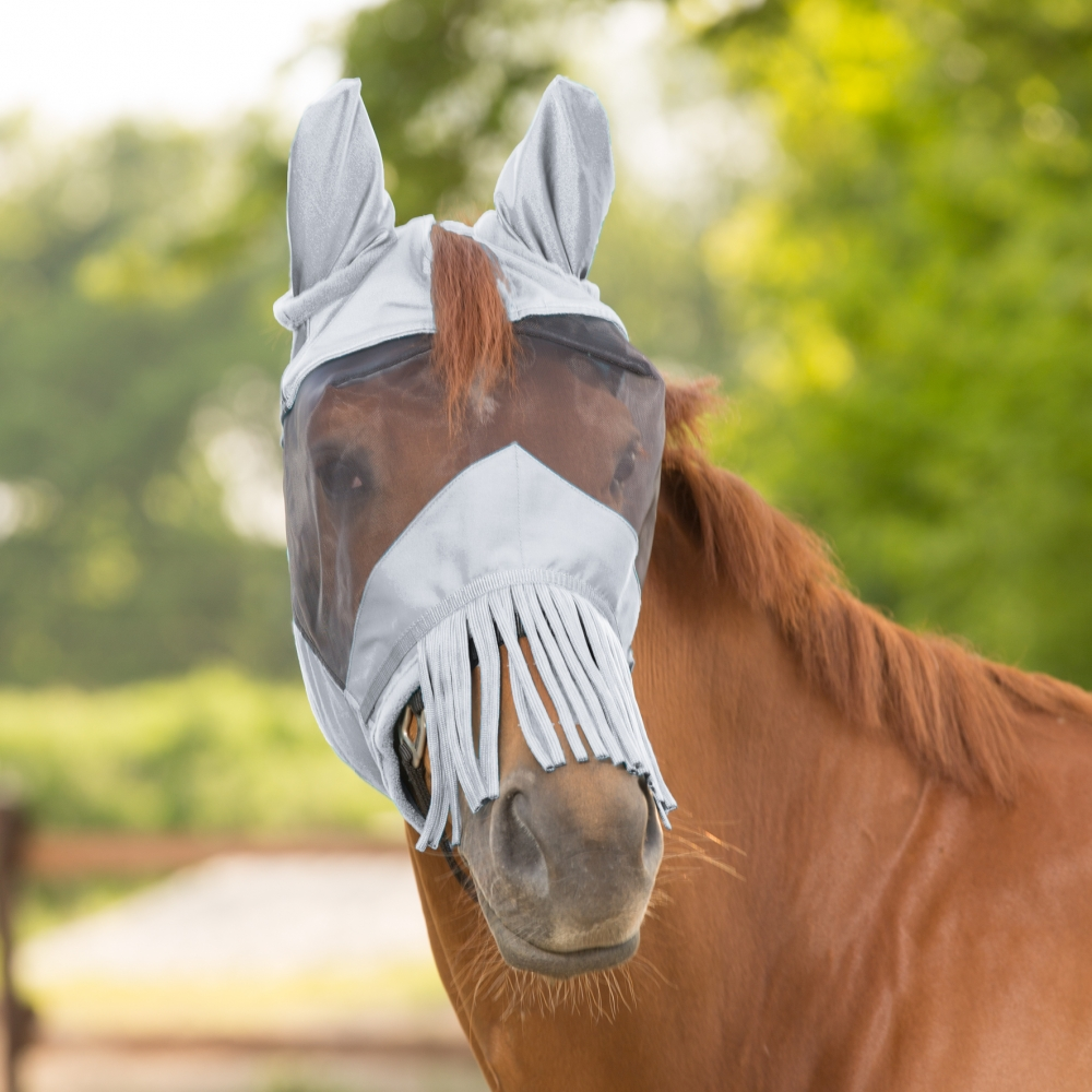 Fly Mask Premium with Ear Protection and Fringe