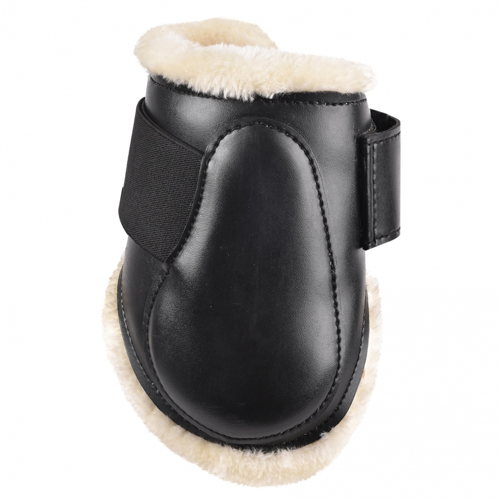 Synthetic lambskin brushing boots