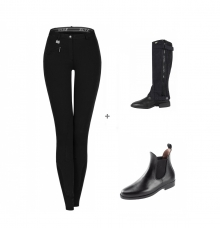 Funktion Sport Breeches & Pro Ride Ankle Boots &  Minichaps Elastic, teens