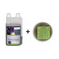 Set Respiratory: Chevaline Respiration Elixir, 1l + Eucalyptus block, 500 g