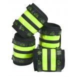 Boots with reflective tapes