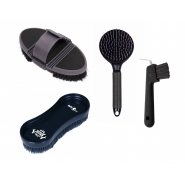 Set Flexi: Flexi Body Brush, Wonderbrush, Tail and mane comb Fair Play and Hoof Pick Brush