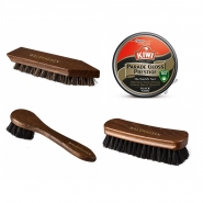 Leather shoe care set